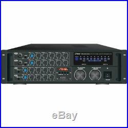 Pyle Pro PMXAKB2000 2,000 Watt Bluetooth Karaoke Amplifier with Wireless Streaming