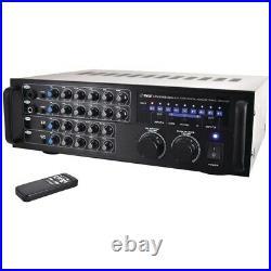 Pyle Pro Pmxakb1000 1,000-Watt Bluetooth Stereo Mixer Karaoke Amp PYLPMXAKB1000