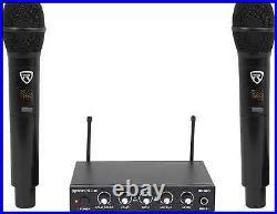 RKI60 Dual UHF 8 Chan Wireless Microphone Karaoke Interface+Mic Mixer
