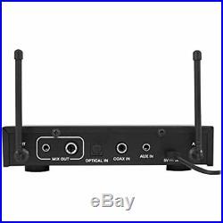 RKI60 Dual UHF 8 Chan Wireless Microphone Karaoke Interface+Mic Mixer Musical