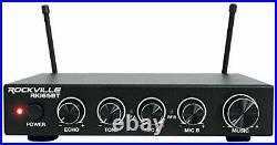 RKI65BT Dual UHF Wireless Microphones+Bluetooth Karaoke Mic With Bluetooth