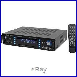 Rockville 19 1000-Watt 4-Channel DJ/Pro/Karaoke Amplifier/Mixer Amp with USB