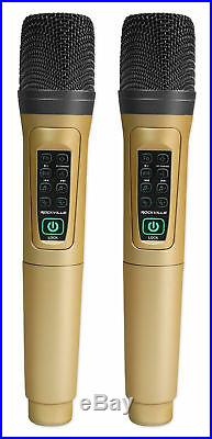 Rockville ANYWHERE KARAOKE Rechargeable Mixer withBluetooth/AUX+(2) Microphones