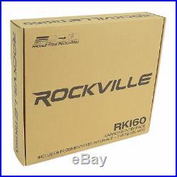 Rockville RKI60 Dual UHF 8 Chan Wireless Microphone Karaoke Interface+Mic Mixer