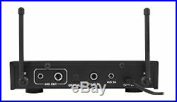 Rockville RKI60 Karaoke Dual Wireless Microphone Mixer For Home Theater System