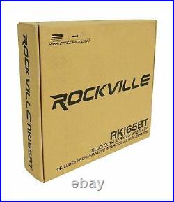 Rockville RKI65BT Dual UHF Wireless Microphones+Bluetooth Karaoke Mic Interfa