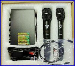 Rockville RKI65BT Dual UHF Wireless Microphones+Bluetooth Karaoke Mic Interface