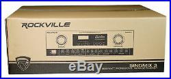 Rockville SingMix 3 Rack Mount 3000w Karaoke Amplifier/Mic Mixer+Bluetooth/Echo