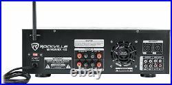 Rockville SingMix 45 1000w Powered Karaoke Mixer Amplifier withBluetooth/USB/Echo