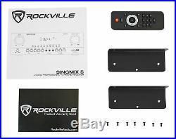 Rockville SingMix Bluetooth Karaoke Amplifier Mixer For API K-909 Speakers