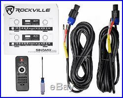 Rockville SingMix Bluetooth Karaoke Amplifier Mixer For Vocopro SV-600 Speakers