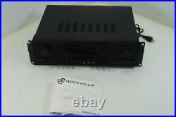 SEE NOTES Rockville SINGMIX 5 2000w DJ Pro Karaoke Home Amplifier Mixer Receiver