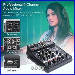 SYNCO MC4 Table de Mixage, Audio Bluetooth USB 4 Canaux Entrée Mono Stéréo New