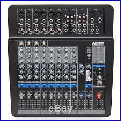 Samson MixPad MXP144FX 12-Channel USB Studio Mixer Live PA Mixing Desk 24-bit FX
