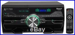 TPeak Power 4000w Karaoke Receiver/Amplifier/DVD/CD-G Player, Bluetooth/USB/FM