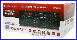 Technical Pro MM3000 3000 Watts Karaoke Mic Mixing Amplifier with Bluetooth