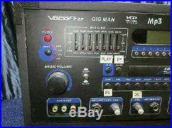USED VOCOPRO GIG MAN PLUS Professional Karaoke Entertainment System (100)