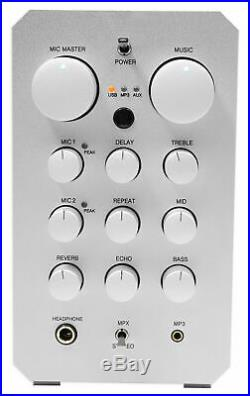 VOCOPRO CASAMAN 200w Digital Karaoke Powered Receiver Mixer+Tablet Stand+2 Mics