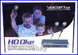 VOCOPRO HD-OKE Dual Microphones with Karaoke Interface+Mic Mixer+HDMI