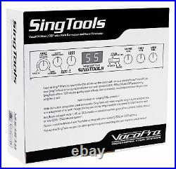 VOCOPRO SINGTOOLS DSP Vocal Effects Karaoke Mixer withPitch Correct+(2) Mics+Stand