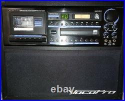 VocoPro Bravo AUX CD DVD Cassette Player Karaoke Professional System TESTED