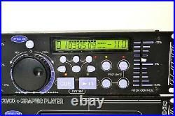 VocoPro CDG-8000 PRO Rack Mountable Dual Tray CD/CD+G Player with Controller Unit