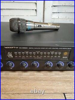 VocoPro DA-3050K Digital Karaoke Mixer w Key Control & Digital Echo with Mic