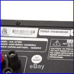 VocoPro DA-3700 BT 200W Digital Key Control Mixing Amplifier SKU#1261902