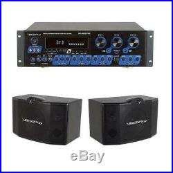 VocoPro KR-3808 Karaoke Receiver with Key Control With VocoPro SV-500 Speaker