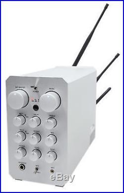 Vocopro Casaman-Wireless Powered Karaoke Mixer/Amplifier withBluetooth/USB+2 Mics