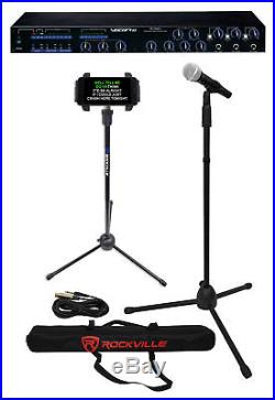 Vocopro DA-1000 Pro Karaoke Mixer with3x Mic Pre-Amp+EQ+Mic+Case+Tablet Stand