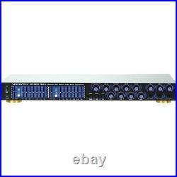 Vocopro Da1055pro Pro. 6 Mic Digital Echo Mixer/parametric Equalizer