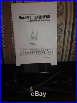 Vocopro Dax10pro World's First Karaoke Mixer Withvocal Enhancer