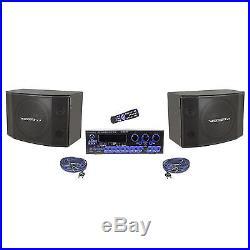 Vocopro KRS-4 Digital Karaoke Amplifier/Mixer + Pair of 12 SV600 Speakers