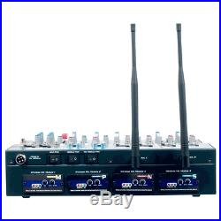 Wireless Karaoke Mixer Wireless Microphone MP3+G Bluetooth Receiver 8 Inputs NEW